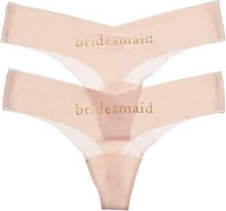 Commando Set Of 2 Bridesmaid Thong