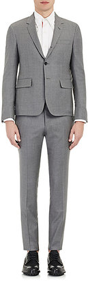 Thom Browne Men's Twill Three-Button Suit-Light Grey $2,200 thestylecure.com