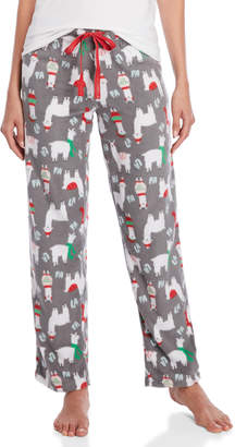 Rene Rofe Fleece Drawstring Pajama Pants