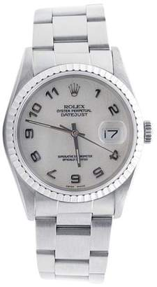 Rolex Datejust Stainless Steel Oyster Band Jubilee Arabic Dial 36mm Mens Watch