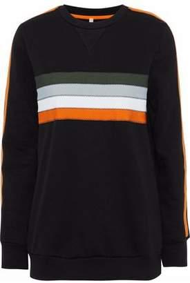 NO KA 'OI Noelani Striped Cotton-Blend Jersey Sweatshirt