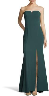 Xscape Evenings Strapless Crepe Trumpet Gown