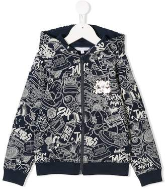 Little Marc Jacobs graffiti print hoodie