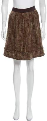 Alberta Ferretti Tweed Knee-Length Skirt