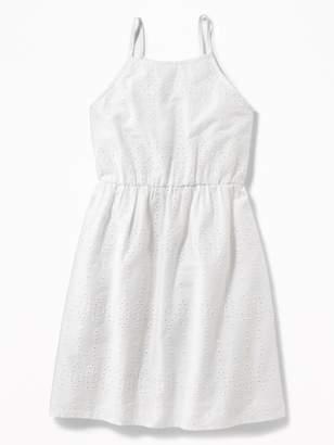 Old Navy High-Neck Eyelet Cami Dress for Girls