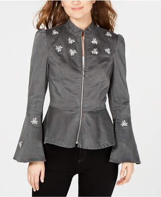 INC International Concepts I.n.c. Embellished Peplum Jacket, Created for Macy's