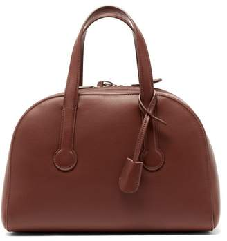 The Row Sporty Bowler 12 Leather Bag - Womens - Tan