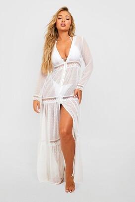 boohoo Boho Lace Beach Dress