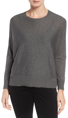 Eileen Fisher Ballet Neck Boxy Pullover $198 thestylecure.com
