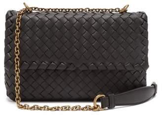 Bottega Veneta Baby Olimpia Intrecciato Leather Shoulder Bag - Womens - Black