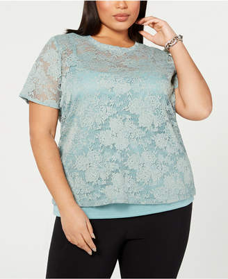 b26a9389afa3a INC International Concepts Green Plus Size Tops on Sale - ShopStyle