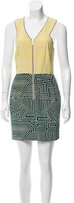 Loeffler Randall Colorblock Silk Dress