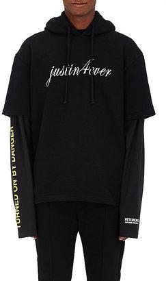 Vetements Men's Justin 4ever Sweatshirt-BLACK $1,385 thestylecure.com
