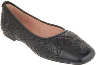 Taryn Rose Quilted Leather Ballet Flats - Reese