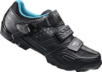 Shimano Cycling Shoes MTB SH WM64L Gr. 40 SPD Shoes Velcro/RATSCHENV. Women's Cycling Shoes Road Bike, Black (Black), 40 EU