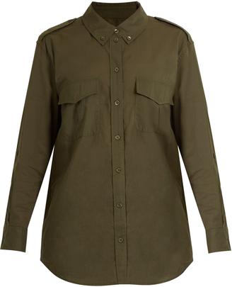EQUIPMENT Major point-collar cotton-poplin shirt $216 thestylecure.com