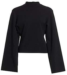 Alaia Women's Double Lined Bell-Sleeve Sweatshirt