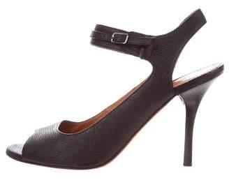 Lanvin Leather Ankle Strap Sandals