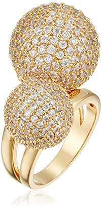 Cara Double Pave Ball Ring