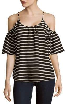 French Connection Polly Striped Cold Shoulder Top