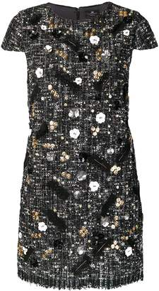 Elisabetta Franchi embellished textured dress