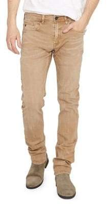Buffalo David Bitton Evan-X Veined & Sanded Colored Slim Fit Jeans