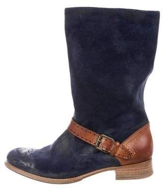 NDC Distressed Suede Boots