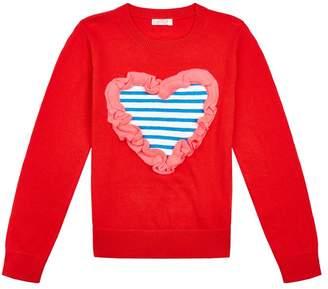 Billieblush Frill Heart Sweater