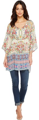 Johnny Was - Bias Flower Top Women's Clothing $210 thestylecure.com