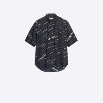 Balenciaga printed raw cut sleeves shirt