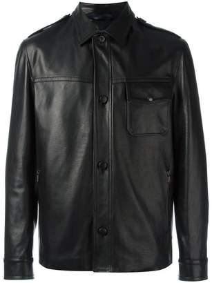 Lanvin button-up leather jacket