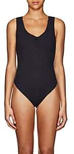 Onia Women's Jenny Ribbed Sleeveless Bodysuit - Black