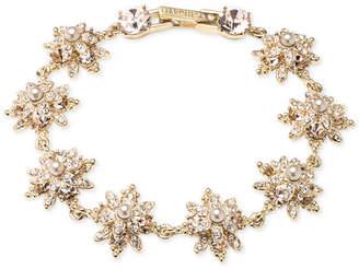 Marchesa Crystal & Imitation Pearl Flex Bracelet