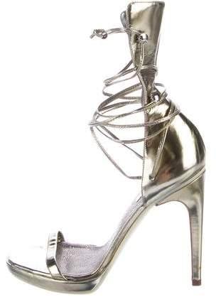 Calvin Klein Metallic Tie Sandals