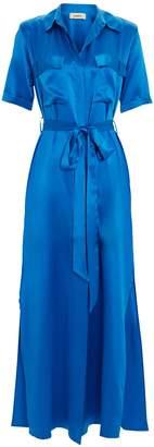 L'Agence Klement Silk Shirt Dress
