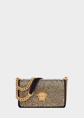 Versace Suede Strass Palazzo Evening Bag