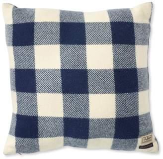 """L.L. Bean L.L.Bean Wool Plaid Throw Pillow, 20"""" x 20"""""""