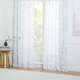 west elm Sheer Cotton Garden Floral Curtains (Set of 2)