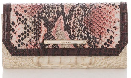 Brahmin Soft Checkbook Wallet Collins
