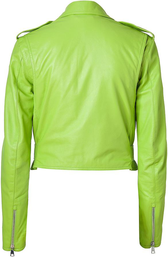 Ralph Lauren Lime Green Glove Leather Jacket