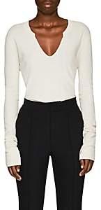 Helmut Lang Women's Thermal-Knit Cotton Top - White
