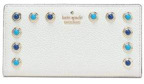Kate Spade Studded Textured-leather Wallet