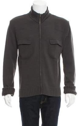 Dolce & Gabbana Zip-Front Wool Cardigan