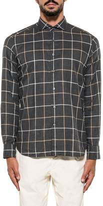 Bagutta Gray/beige/ivory Bsiena Checked Shirt