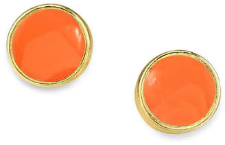 2028 14K Gold Dipped Small Round Enamel Stud Earring