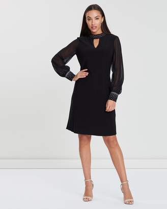 Wallis Hotfix Collar Swing Dress