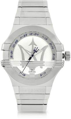 Maserati Potenza 3H Silver Dial Stainless Steel Watch