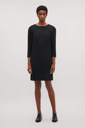 Cos DRESS WITH GATHERED SLEEVES
