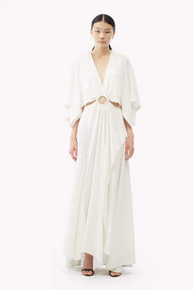 3.1 Phillip Lim Cut-Out Crepe Maxi Dress