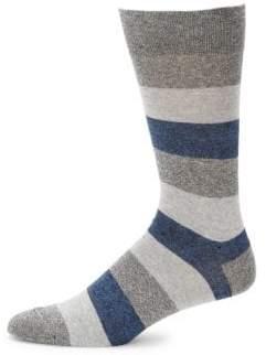 Saks Fifth Avenue Genova Rugby Striped Mid-Calf Socks